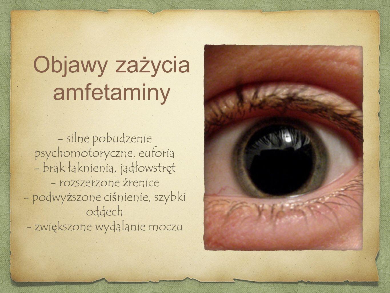 Objawy zażycia amfetaminy