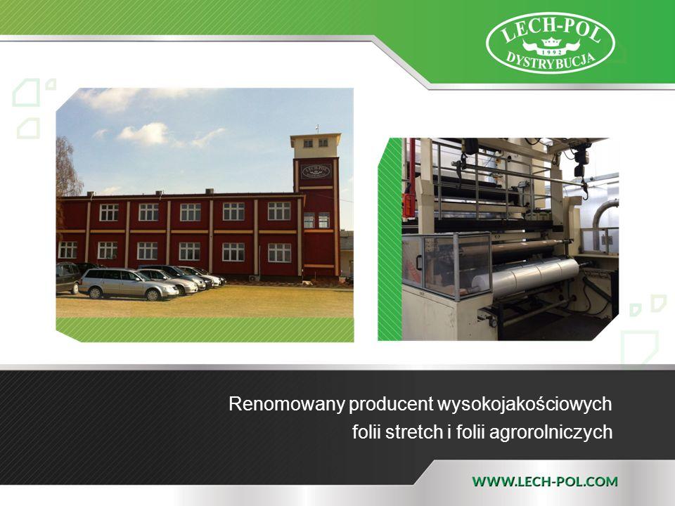 Renomowany producent wysokojakościowych folii stretch i folii agrorolniczych