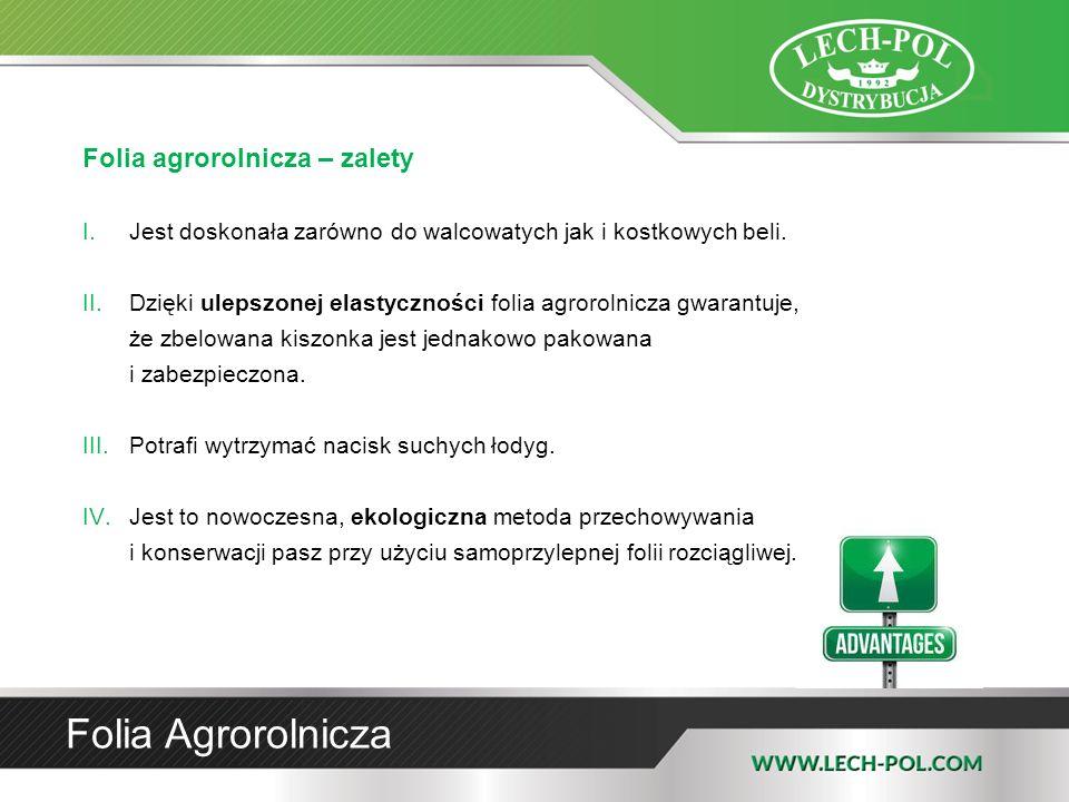 Folia Agrorolnicza Folia agrorolnicza – zalety