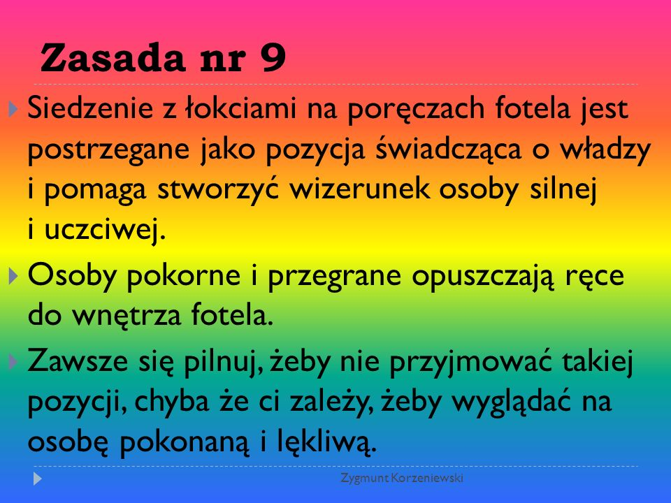Zasada nr 9