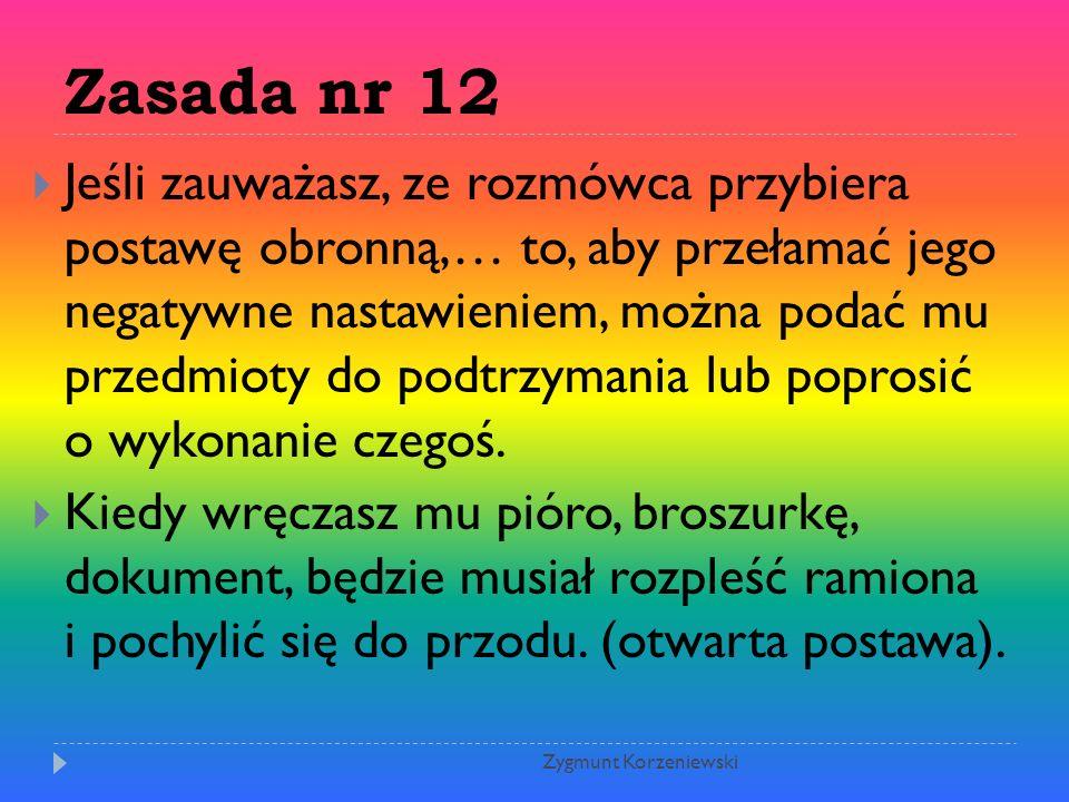 Zasada nr 12