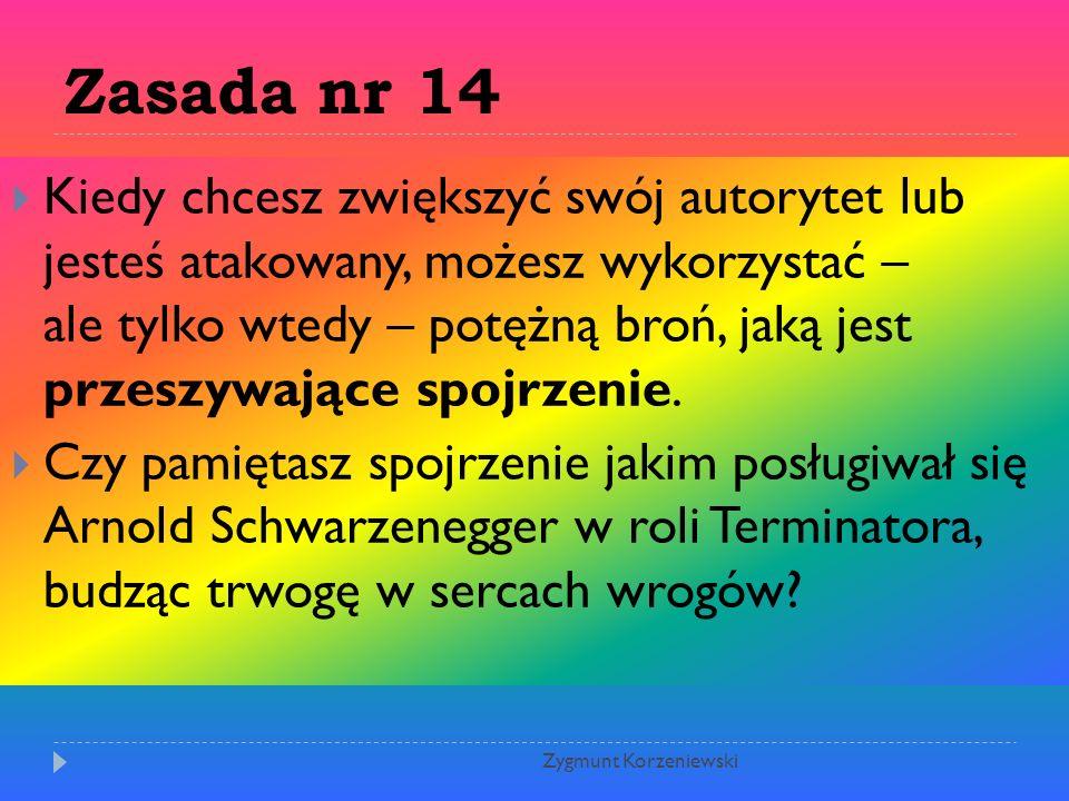 Zasada nr 14