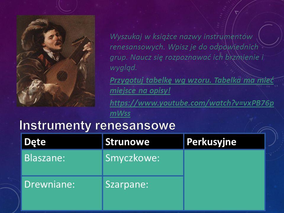 Instrumenty renesansowe