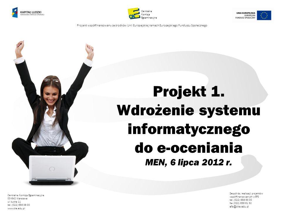 Centralna Komisja. Egzaminacyjna. Projekt współfinansowany ze środków Unii Europejskiej ramach Europejskiego Funduszu Społecznego.