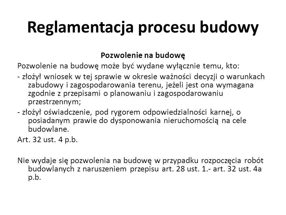 Reglamentacja procesu budowy