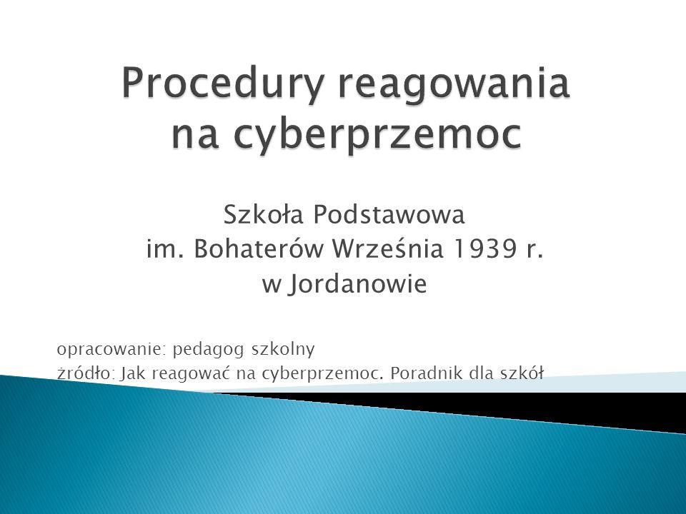 Procedury reagowania na cyberprzemoc