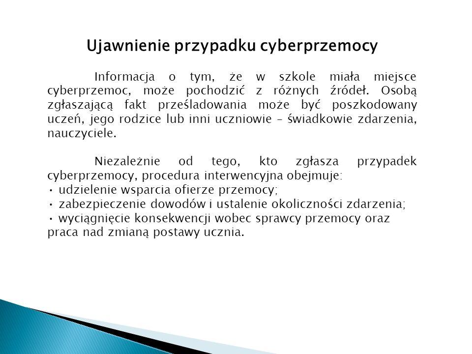 Ujawnienie przypadku cyberprzemocy