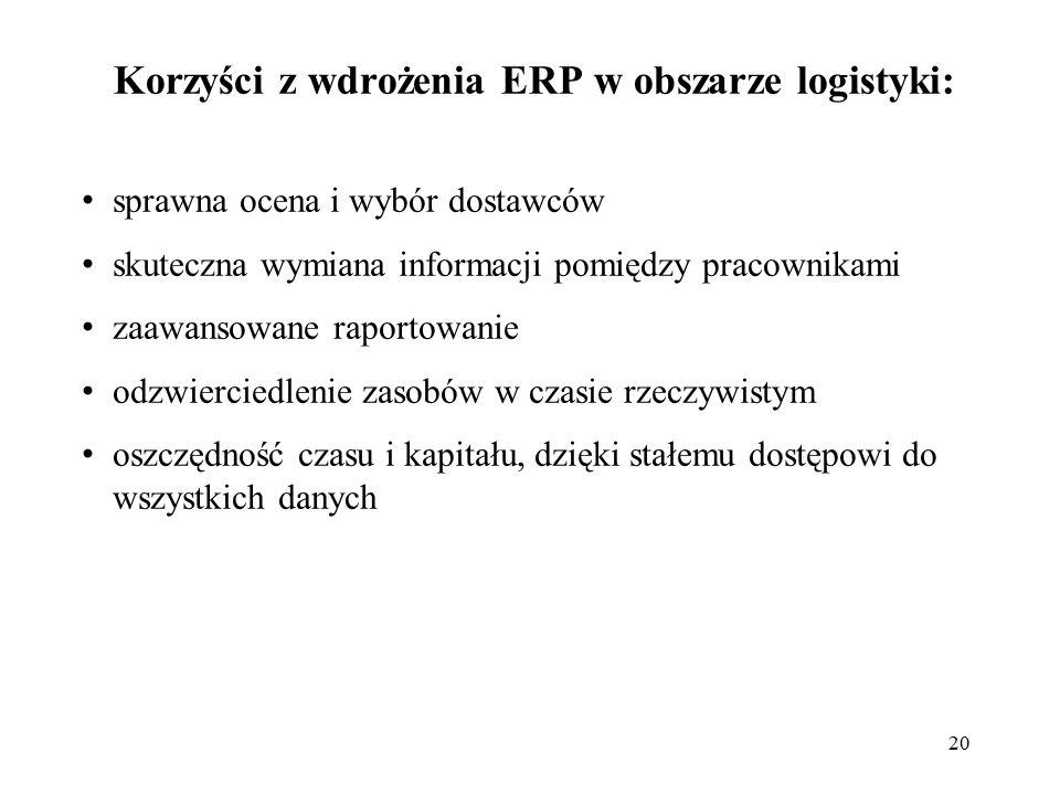 Korzyści z wdrożenia ERP w obszarze logistyki: