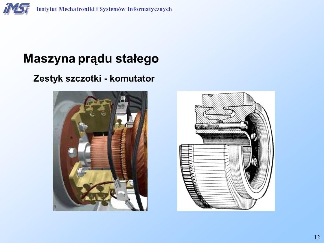 Maszyna prądu stałego Zestyk szczotki - komutator