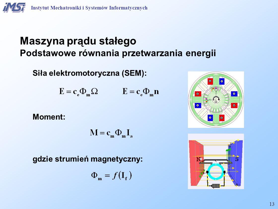 Maszyna prądu stałego Podstawowe równania przetwarzania energii