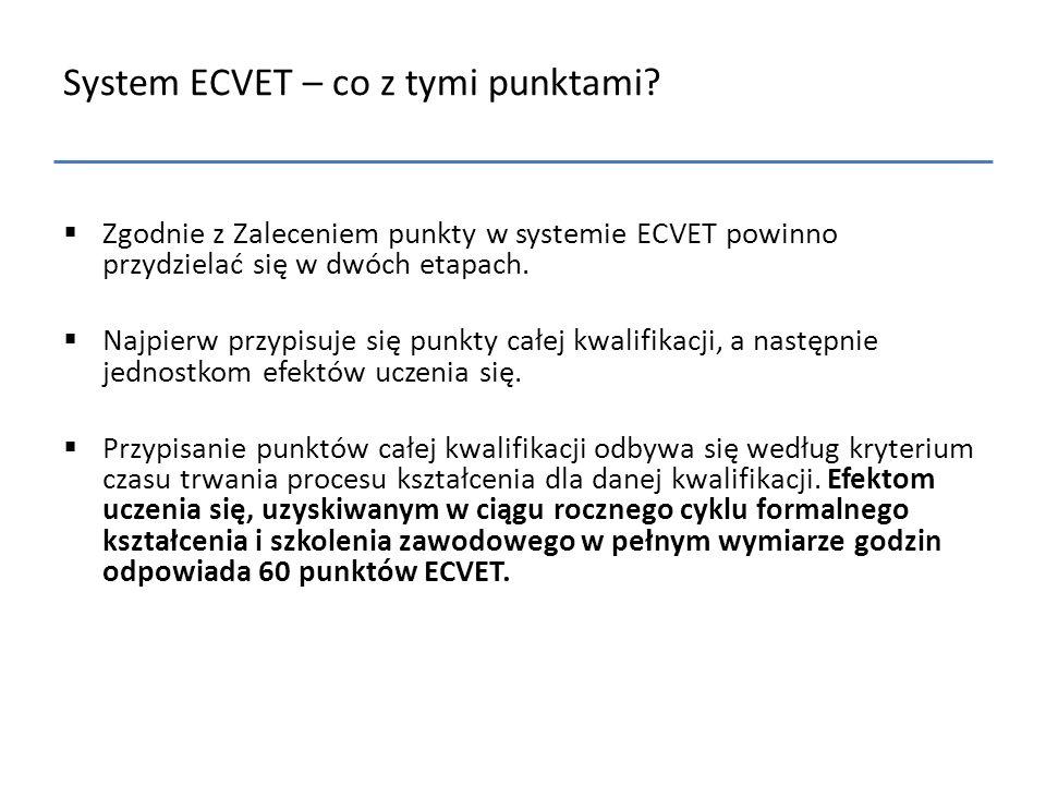 System ECVET – co z tymi punktami