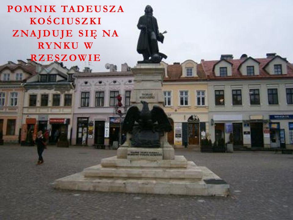 Pomnik Tadeusza Kościuszki znajduje się na Rynku w Rzeszowie