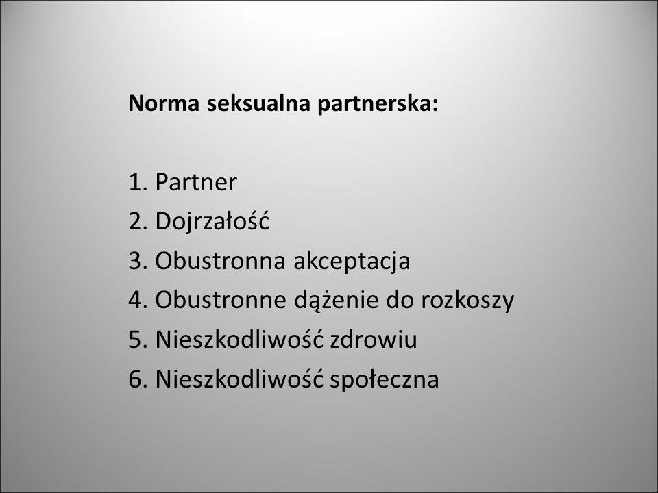 Norma seksualna partnerska: