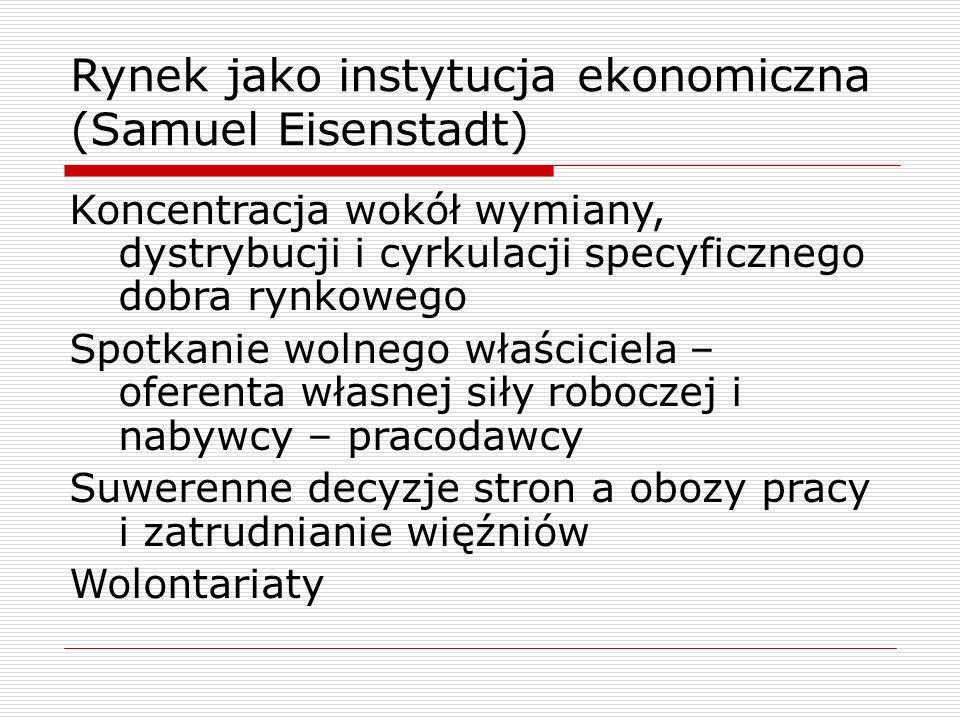 Rynek jako instytucja ekonomiczna (Samuel Eisenstadt)