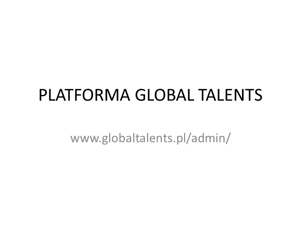 PLATFORMA GLOBAL TALENTS