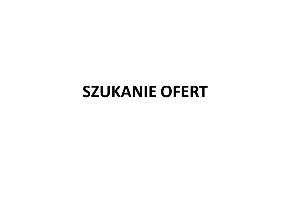 SZUKANIE OFERT