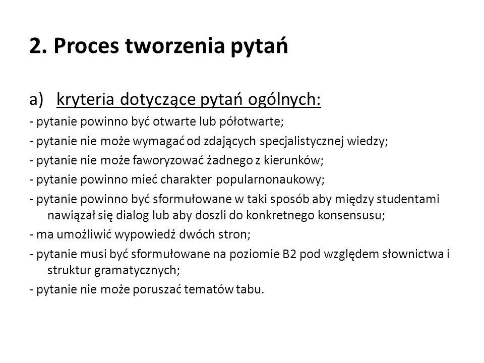 2. Proces tworzenia pytań