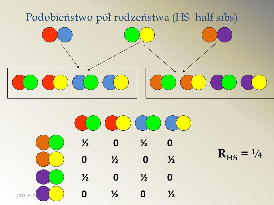 Podobieństwo pół rodzeństwa (HS half sibs)