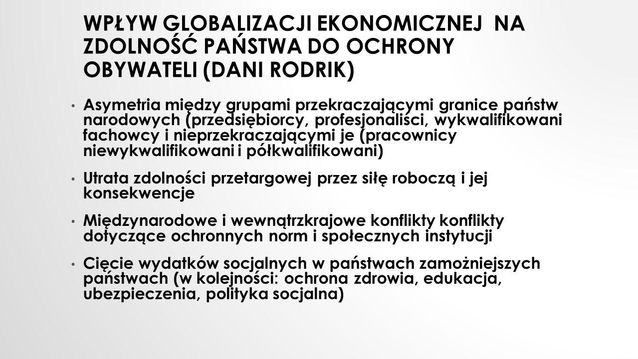 Wpływ globalizacji ekonomicznej na zdolność państwa do ochrony obywateli (Dani Rodrik)