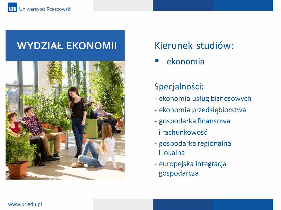 Kierunek studiów: WYDZIAŁ EKONOMII ekonomia Specjalności: