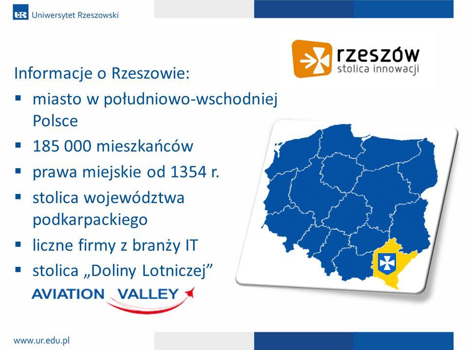 Informacje o Rzeszowie: miasto w południowo-wschodniej Polsce