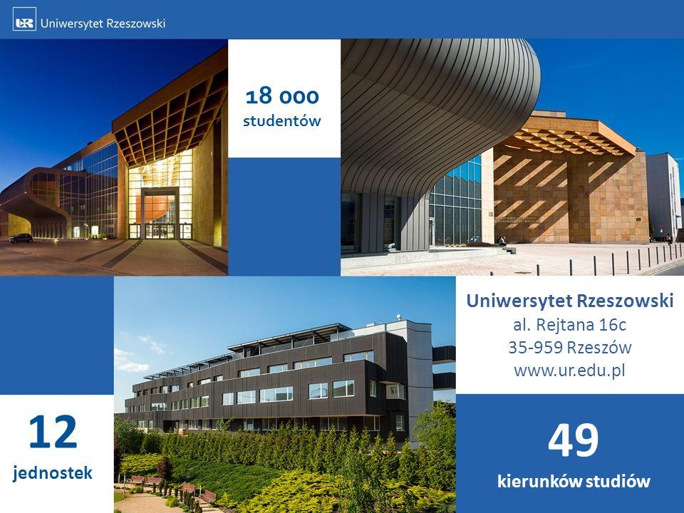 Uniwersytet Rzeszowski al. Rejtana 16c 35-959 Rzeszów www.ur.edu.pl