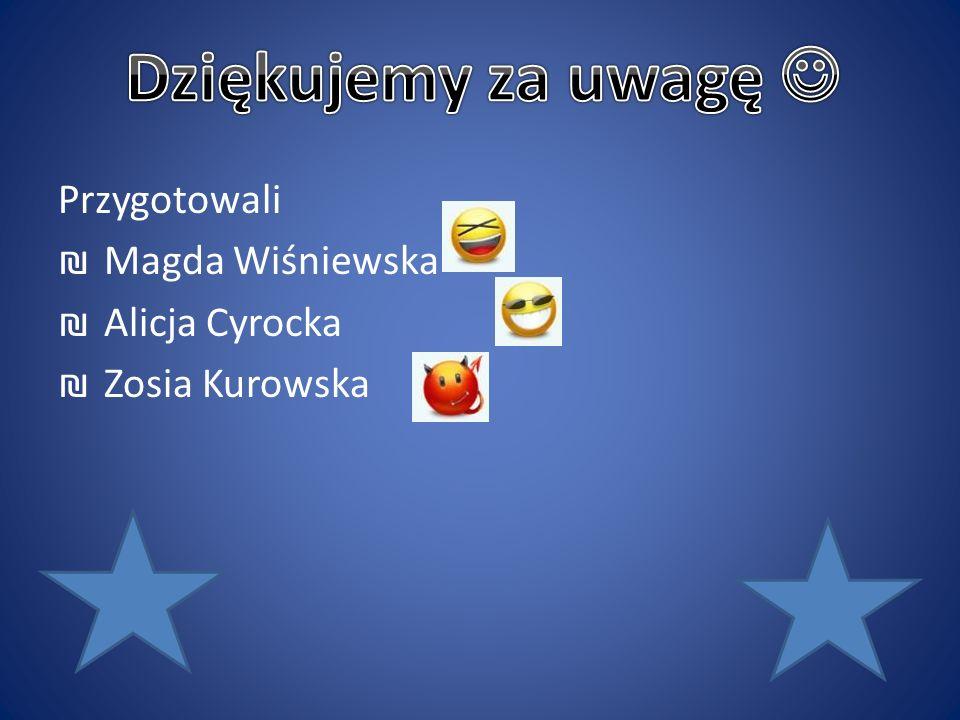 Dziękujemy za uwagę  Przygotowali Magda Wiśniewska Alicja Cyrocka