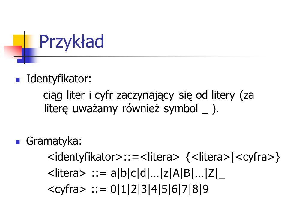 Przykład Identyfikator: