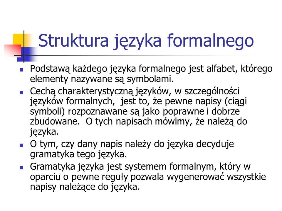 Struktura języka formalnego