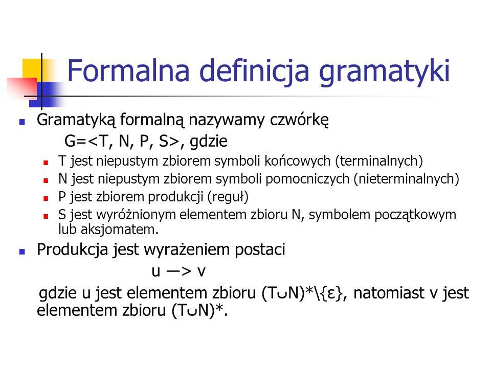 Formalna definicja gramatyki