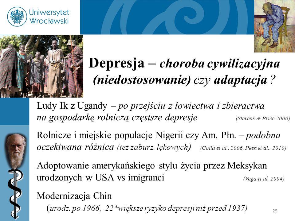 Depresja – choroba cywilizacyjna (niedostosowanie) czy adaptacja