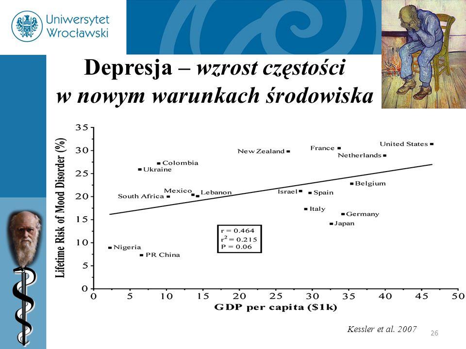 Depresja – wzrost częstości w nowym warunkach środowiska
