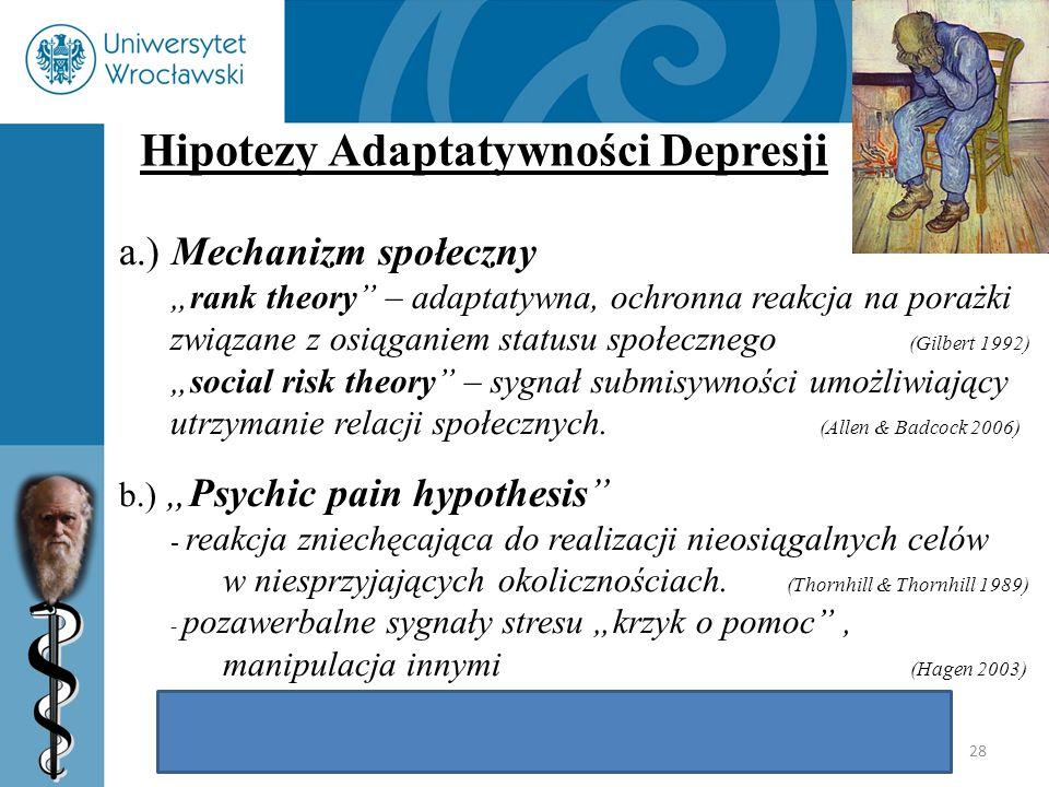 Hipotezy Adaptatywności Depresji