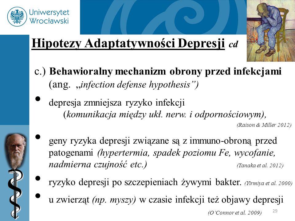 Hipotezy Adaptatywności Depresji cd