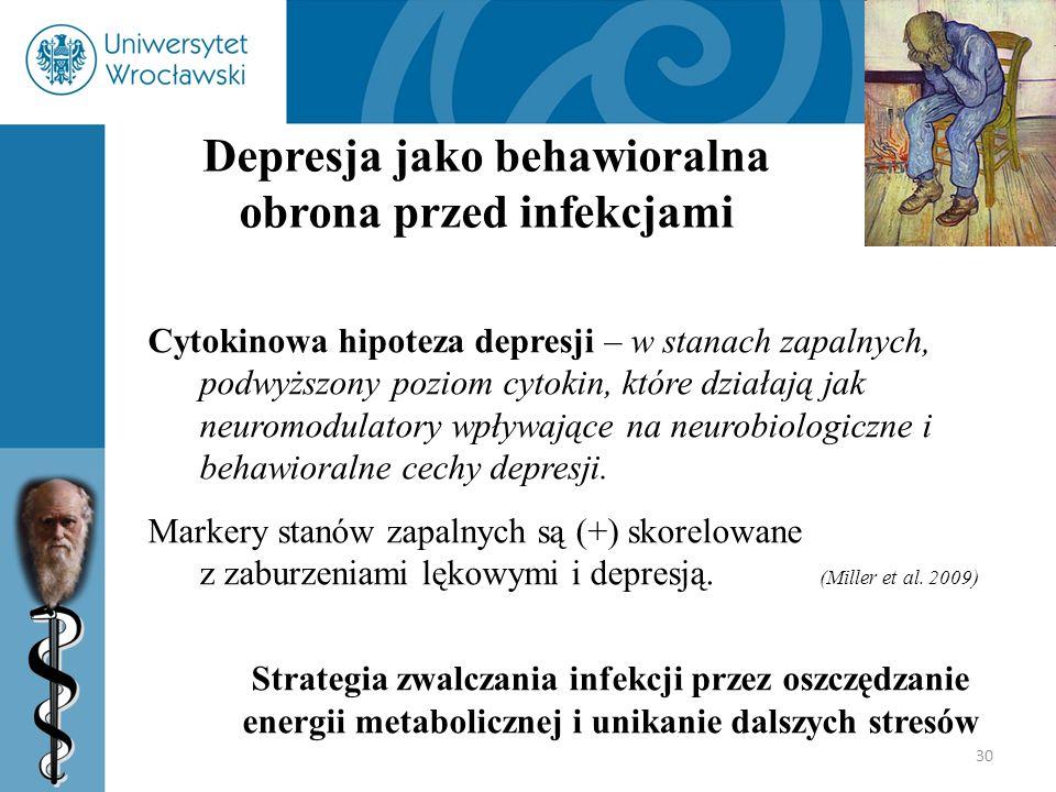 Depresja jako behawioralna obrona przed infekcjami