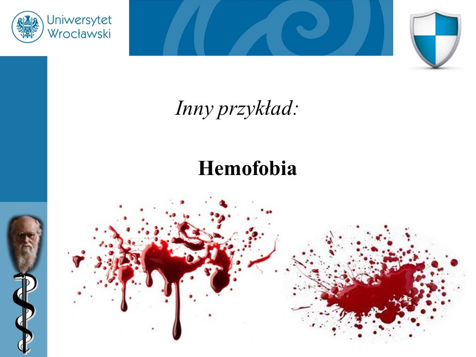 Inny przykład: Hemofobia