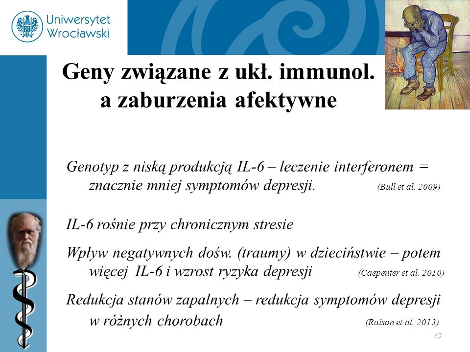 Geny związane z ukł. immunol. a zaburzenia afektywne