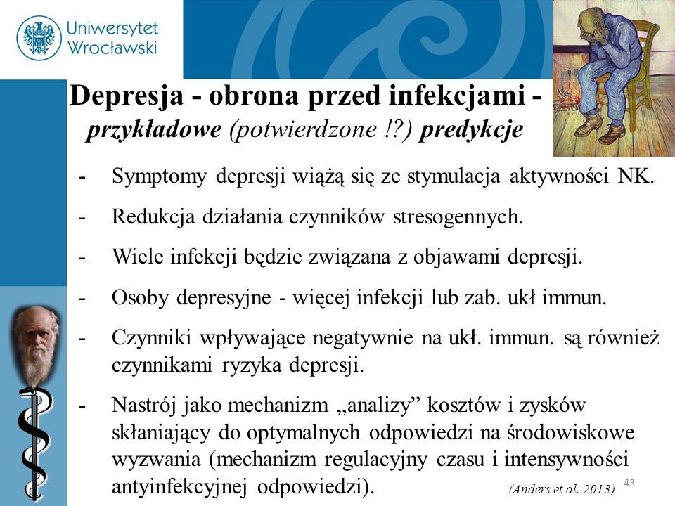 Depresja - obrona przed infekcjami -