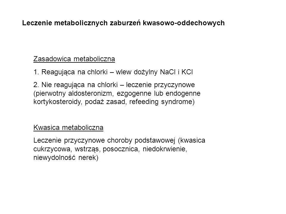 Leczenie metabolicznych zaburzeń kwasowo-oddechowych