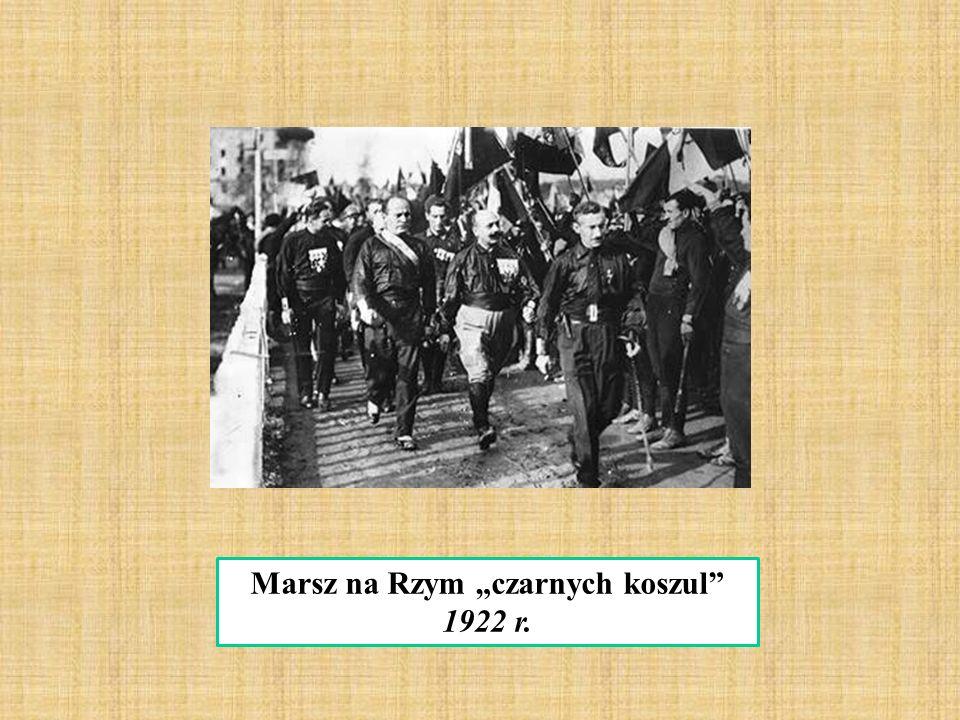 """Marsz na Rzym """"czarnych koszul"""