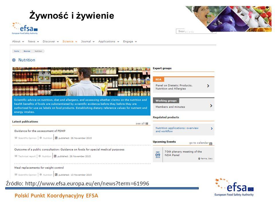 Żywność i żywienie Źródło: http://www.efsa.europa.eu/en/news term=61996.