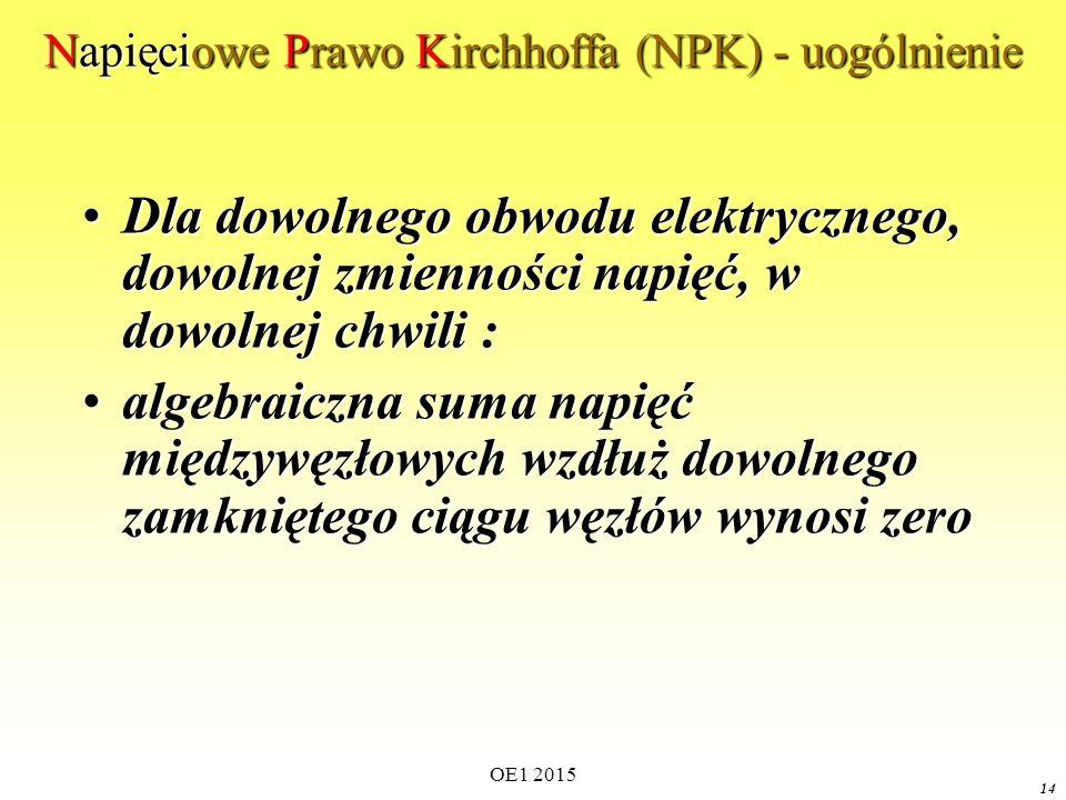 Napięciowe Prawo Kirchhoffa (NPK) - uogólnienie