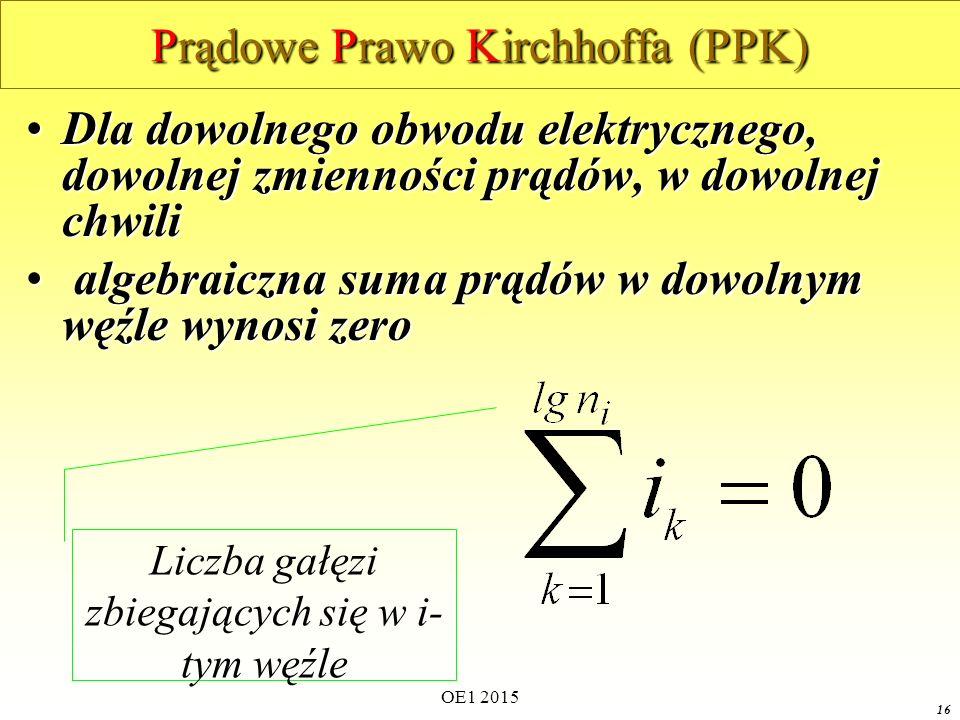 Prądowe Prawo Kirchhoffa (PPK)