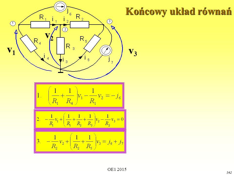 Końcowy układ równań v1 v3 v2 OE1 2015