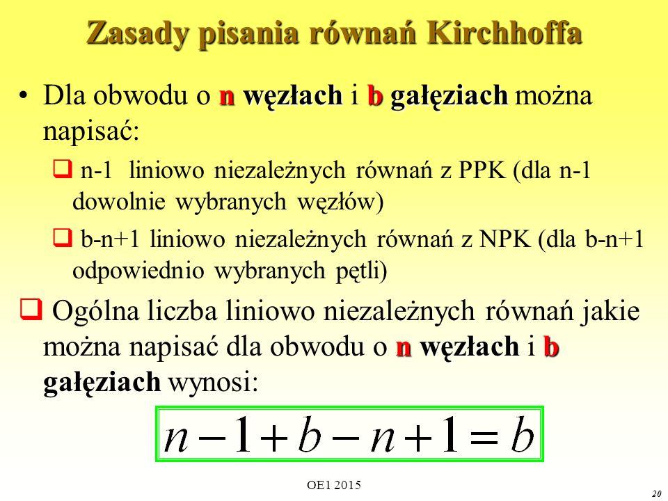 Zasady pisania równań Kirchhoffa