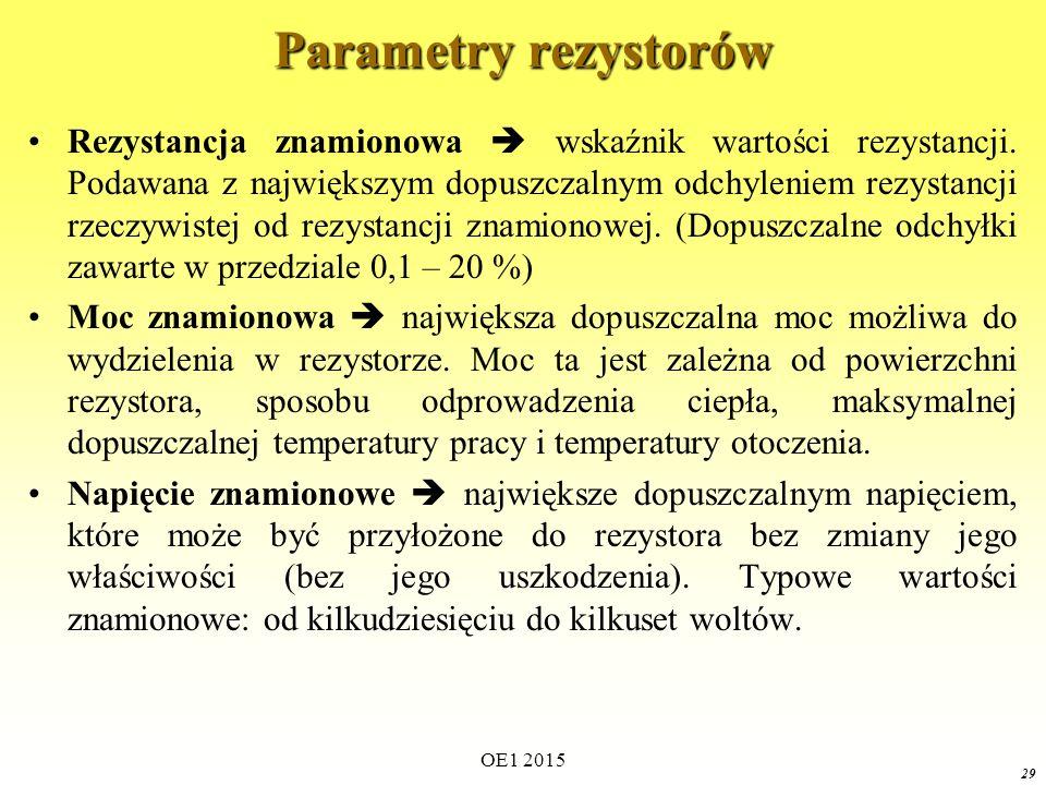 Parametry rezystorów
