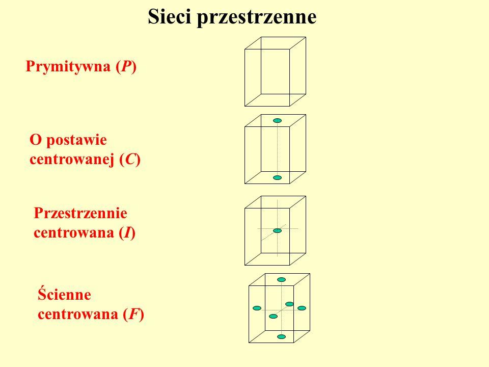 Sieci przestrzenne Prymitywna (P) O postawie centrowanej (C)