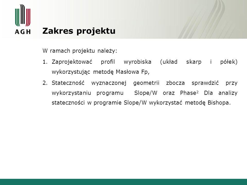 Zakres projektu W ramach projektu należy: