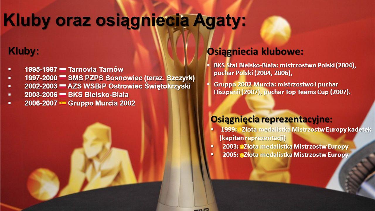 Kluby oraz osiągniecia Agaty: