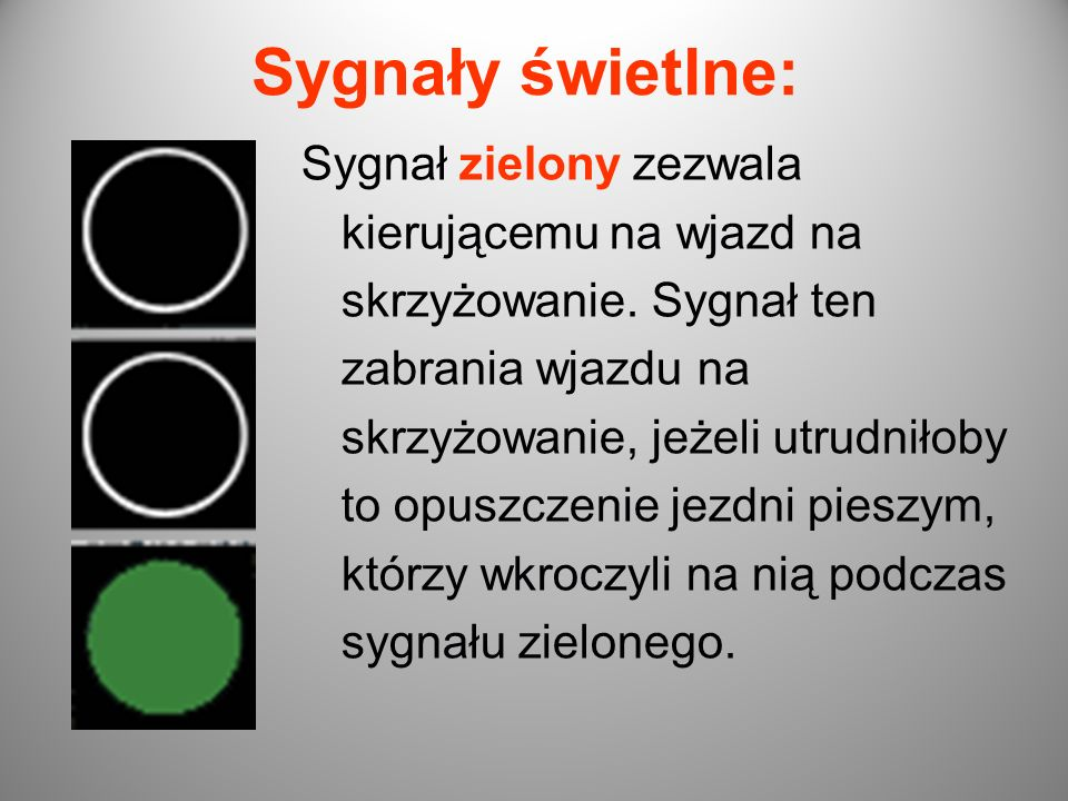 Sygnały świetlne: